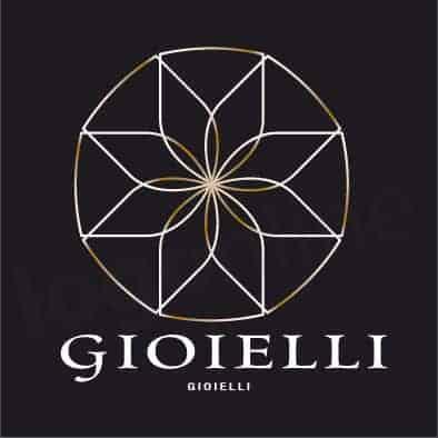 Logo online elegante oro e nero adatto a gioiellerie, brand gioielli, prodotti etnici o artigianato, lusso. Logonline