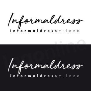 Logo online bianco e nero, a firma, calligrafia Logonline