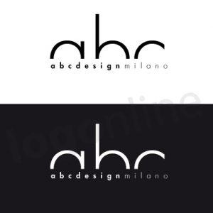 Logo online in bianco e nero. Logo design moderno, minimal. Logonline