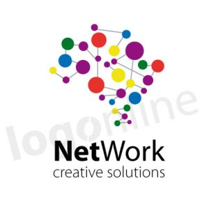 Logo online per studio associato, network, studio creativo, studio digitale. Logonline