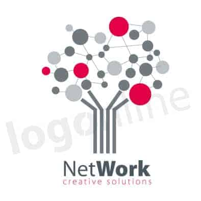 Logo online per network, cowork, studio associato, ambito IT e digital. Logonline
