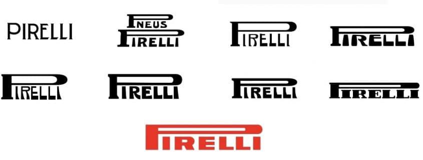 Evoluzione logo Pirelli Logonline