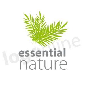 Logo foglie verdi, tropical, per prodotti naturali e biologici. Logonline