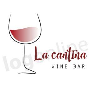 Logo wine bar, pub, degustazioni, enoteca. Logonline