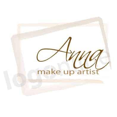 Logo online con cornice per make up, estetica donna, bellezza, cura della persona. Logonline