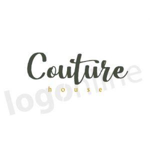 Logo online a firma corsivo calligrafia in bianco e nero. Logonline