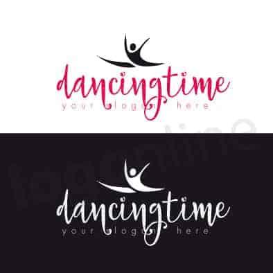 Logo online per accademia ballo, scuola di ballo, palestra. Logonline