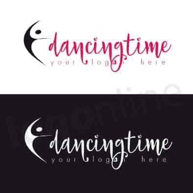 Logo online per scuola di ballo, danza, teatro. Logonline