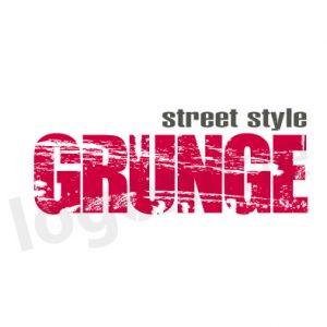 Logo online scritta effetto grunge, vintage per negozi o prodotti street style, target giovane. Logonline