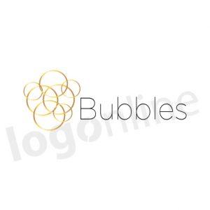 Logo con cerchi. Oro e nero. Richiamo a circolarità, network, oro, lusso, lineare. Logonline