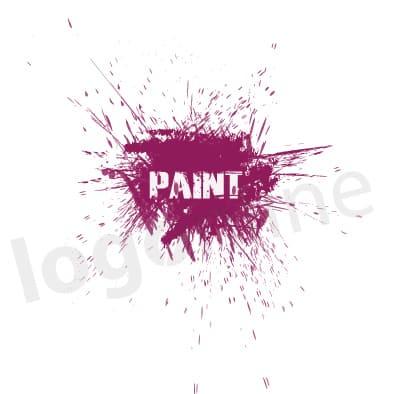 Logo online schizzo vernice per attività artistiche o creative. Logonline