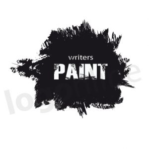 Logo online pittura nero per attività artistiche e creative. Logonline