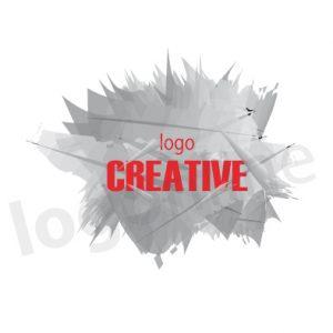 Logo online grigio, geometrico per attività artistiche e creative. Logonline