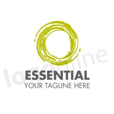 Logo cerchio verde lime, design geometrico e moderno. Logonline