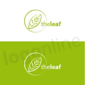 Logo foglia verde. Per prodotti e marchi naturali e biologici. Logonline