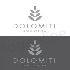 Logo pronto per hotel, spa, centro benessere. Logo con foglie da personalizzare. Logonline