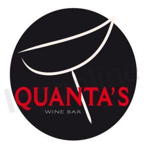 Logo con calice di vino per wine bar, cocktail, degustazione, pub, enoteca. Logonline