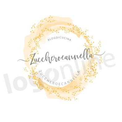 Logo crema e granelli di zucchero per blog di pasticceria, dolci, cucina. Logonline