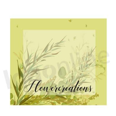 Logo con fiori delicati da personalizzare, creazione di decorazioni floreali. Logonline