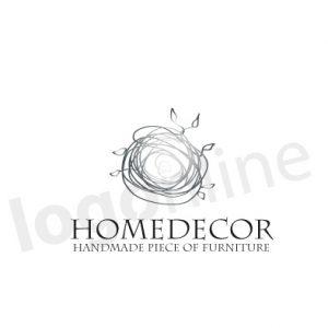 Logo con filo argento e foglioline