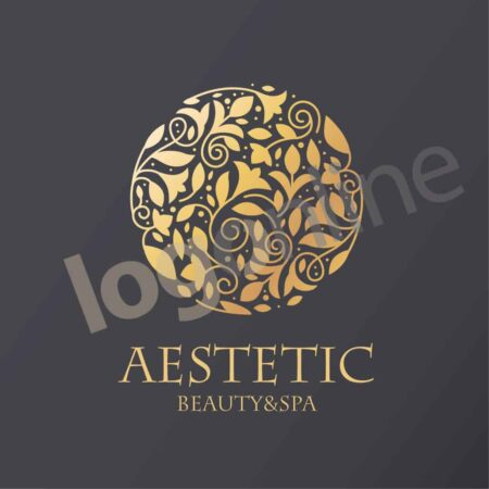 logo oro per estetica, resort, beauty spa