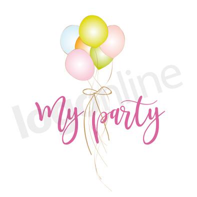 Logo ludoteca, asilo, logo bambini, logo palloncini