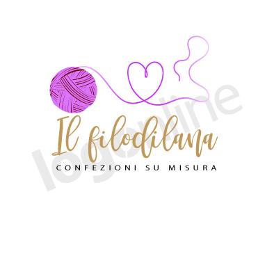 Logo con gomitolo lana